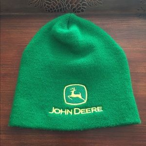 John Deer hat green and yellow